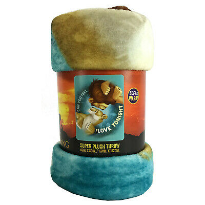 2019 Walt Disney The Lion King Live Action Soft Super Plush Large Throw Blanket