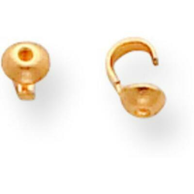 14K Gold Bead Tip 4 x 5mm