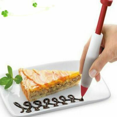 Decorating Pens Bakeware Pastry Cream Chocolate Toppers Silicone Plate Paint Pen