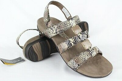 df57df52ca27a New Vionic Orthaheel Women's Amber Adjustable Sandals Size 11 Natural Snake