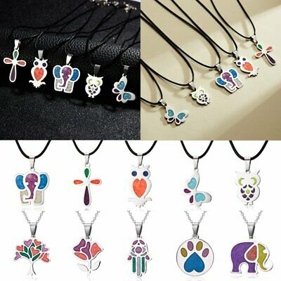 Fashion Stainless Steel Animal Enamel Necklace Pendant Women Men Jewelry Gift
