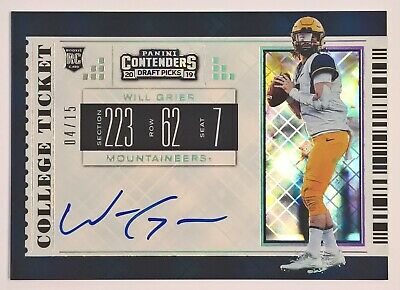 2019 Contenders Draft Picks COLLEGE TICKET Autograph WILL GRIER RC Auto 4/15
