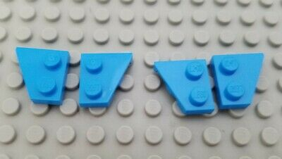LEGO Lot of 2 Pair of Dark Green 8x3 Wedge Wing Space Plate Parts