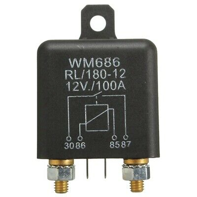 12V 100Amp 4-Pin Heavy Duty ON/OFF Switch Split Charge Relay For Auto BoatP2M3