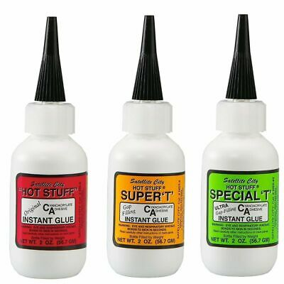 Satellite City CA Glue Set of 3 (1 Hot Stuff, 1 Super T, 1 Special T) 2 OZ.