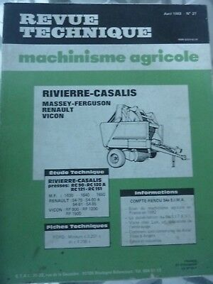 Équipements Professionnels Fiat Rtma N°24 Revue Technique Machinisme Agricole Sperry Vickers