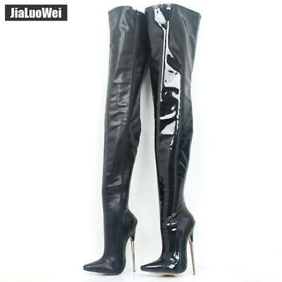 9798af3042f6d CR ROSE GOLD Belted Slouchy Shaft Pointy Toe OTK Thigh Boot High ...