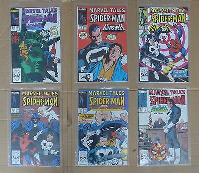 MARVEL TALES SPIDERMAN & THE PUNISHER ZECK cover art LOT 12 comics NM 1st PRINT