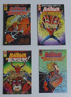 BADGER GOES BERSERK! Limited Series + BADGER Baron & Zeck LOT 8 comics NM 1st Ed