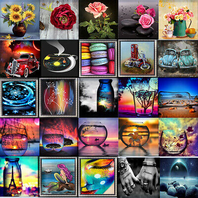 Landscape 5D Diamond Painting Kits Cross-Stitching Embroidery Arts Crafts Tools