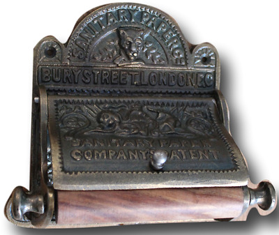 Victorian Cast Iron Bury Street London Cast Iron Toilet Roll Holder