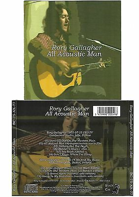RORY GALLAGHER All Acoustic Man CD Live Lille + Dublin 1975 / 1977 Like New