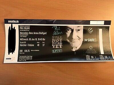 Phil Collins Konzert Ticket Stuttgart 05.06.2019 Top Sitzplatz