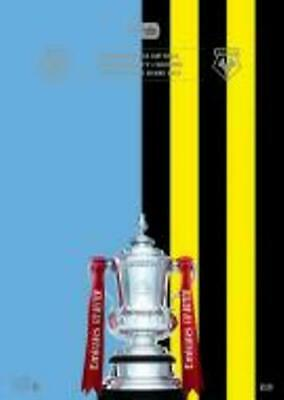 FA CUP FINAL PROGRAMME 2019 Manchester City v Watford - post today !!