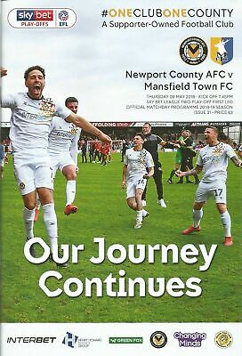 2018/19  NEWPORT COUNTY v MANSFIELD TOWN  Play Off Semi Final