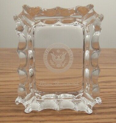 Vintage Strom Thurmond United States Senate etched glass ashtray