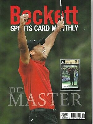 New Beckett Sports Card Monthly Price Guide Magazine,June 2019 (Tiger Woods)