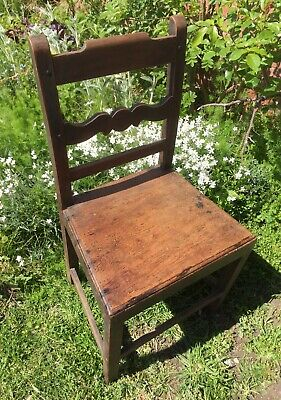 GEORGIAN regency era  c.1820 oxford COUNTRY fruitwood chair antique Solid seat