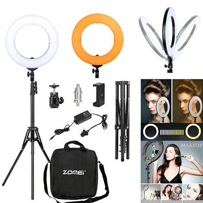 "14"" LED Ring Light 5500K 41W Dimmable Studio Tripod Lamp For Youtube Live M"