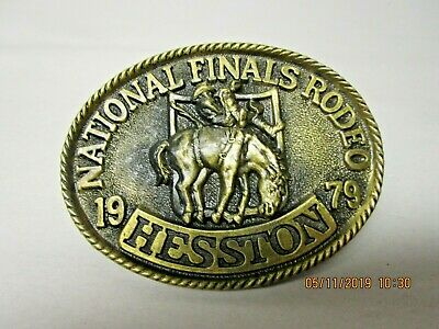 Vintage 1979 Hesston National Finals Rodeo Belt Buckle 5TH EDITION COLLECTORS