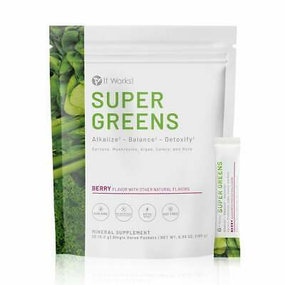 It Works! Greens on the Go Blend Packets•Berry Flavor**FRESH**Box of 30 Packets