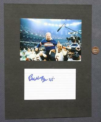 Chicago Bears Buddy Ryan signed/autographed card & photo set-Died 2016-SCARCE!*