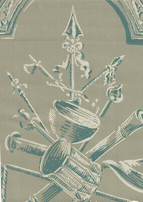 LAST CHANCE! 3 rolls: Historic Reproduction Wallpaper c1770 Colonial Military