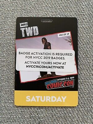 NYCC NY Comic Con 2019 - Saturday Adult Badge   Jacob Javits - SOLD OUT ONLINE