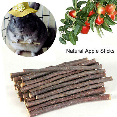 80g Natural Apple Wood Chew Sticks Twigs For Pets Rabbit Hamster Guinea Pig Toy