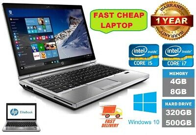 "Cheap Fast HP ELITEBOOK 2570P CORE i7/i5 8GB 128GB SSD 12.5"" LAPTOP  Windows 10"