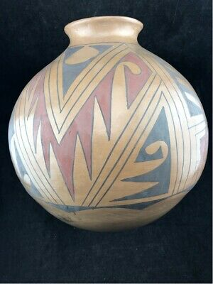 "LARGE ANTIQUE MATA ORTIZ POLYCHROME POTTERY  11"" DIA X 13.5"" Jeronimo Villapando"