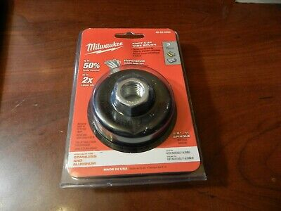 Milwaukee 3 inch Knot Brush Cup Steel Wire Wheel Grinder Tool Accessory Abrasive
