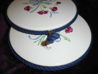 Lenox POPPIES ON BLUE Two TRIVETS 6 INCH ROUND FOR USE OR WALL DECOR NEW