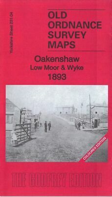 Old Ordnance Survey Map Oakenshaw Low Moor & Wyke 1893 Bradford Salt Horn