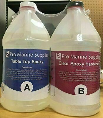Epoxy Resin Crystal Clear 2 Gallon Kit. For Super Gloss Coating And Tabletops #1