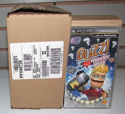 1 Sealed Case of 12 Buzz! Master Quiz for PSP Wholesale Lot Brand New