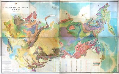 1968 Soviet Geology Ministry and Nalivkin Geological Map of the U.S.s.R