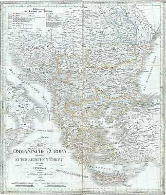1826 Weiland Map of European Turkey, Greece and the Balkans