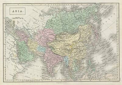 1851 Black Map Of Asia