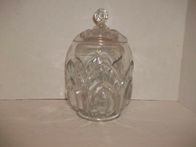 Antique Eapg Peacock Feather Biscuit Barrel Cookie Jar Riverside Us Glass Rustic