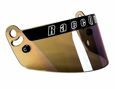RaceQuip 204007 RaceQuip Blue Irridium Helmet Face Shield Fits Pro Model Helmet