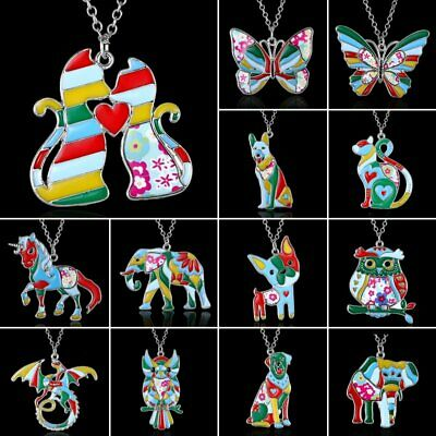 Fashion Animal Butterfly Dog Owl Charm Pendant Necklace Sweater Chain Jewelry