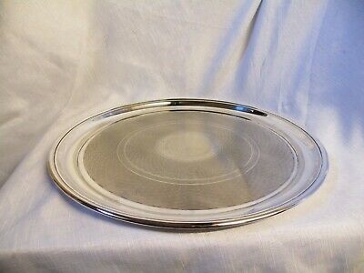 Vintage Silver Plated Round Serving Tray