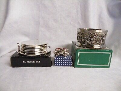 Vintage Silver Plated Coasters