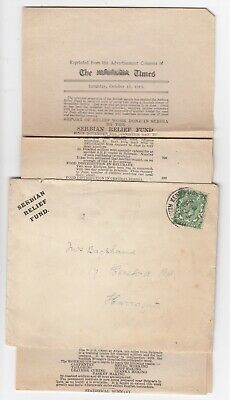 1919 Post WW1 Serbian Relief Fund Report (Contributors) Cover Press Harrogate