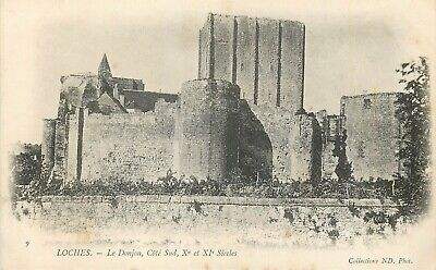 Cp Loches Donjon Cote Sud Nd