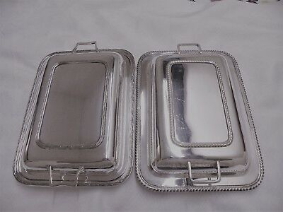Two Vintage Silver Plated Tureen Serving Dishes