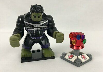 NEW Avengers End Game Hulk with Iron Man Red Nano Infinity Gauntlet Minifigure