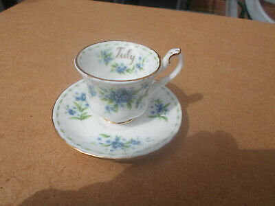 Royal Albert July Flower of The Month Series Miniature Cup and Saucer