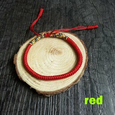 Womens Good Luck Hand Braided Lucky Red String Rope Cord Bracelet Gift Jewelry